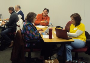 Librarians and technology leaders sat in on two workshops led by John Sowash