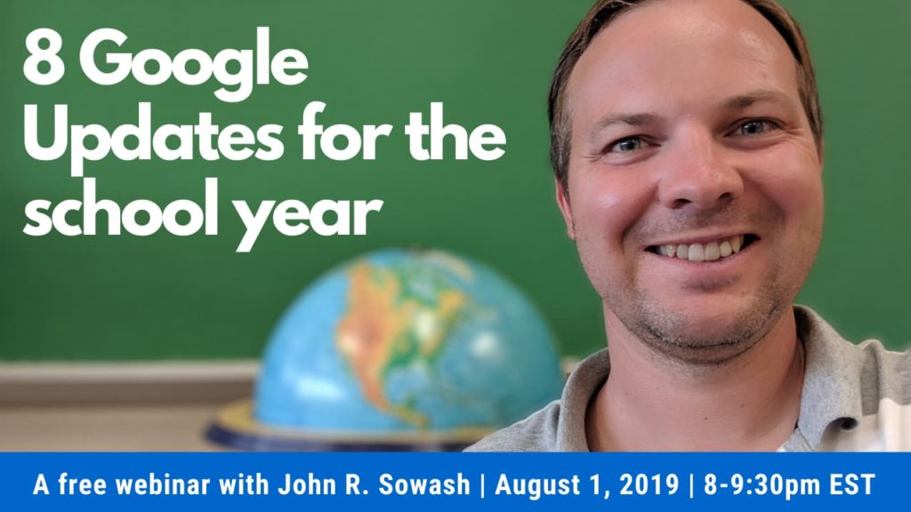 8 updates for the school year - John R. Sowash
